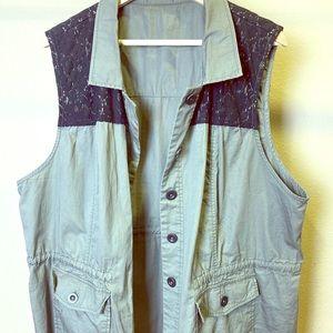 Green Cargo Vest